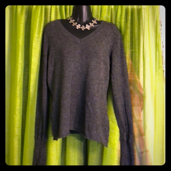 JUST CASHMERE by FORTE V Neck Sweater Size Large